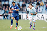 Getafe's Wanderson (l) and Celta de Vigo's Hugo Mallo during La Liga match. February 27,2016. (ALTERPHOTOS/Acero)