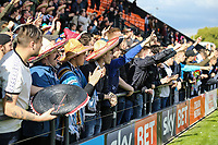 Grimsby Town fans after the Sky Bet League 2 match between Barnet and Grimsby Town at The Hive, London, England on 29 April 2017. Photo by David Horn.