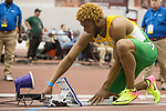 COLLEGE STATION, TX - MARCH 11: Maxwell Willis of Baylor readies for the 200 meter dash during the Division I Men's and Women's Indoor Track & Field Championship held at the Gilliam Indoor Track Stadium on the Texas A&M University campus on March 11, 2017 in College Station, Texas. (Photo by Michael Starghill/NCAA Photos/NCAA Photos via Getty Images)