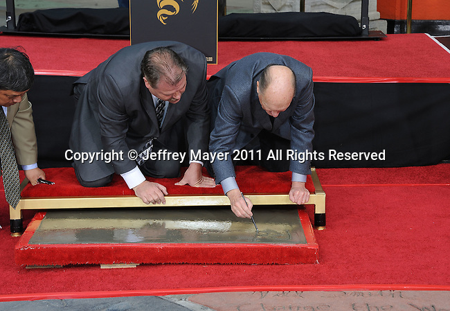 HOLLYWOOD, CA - January 05: Robert Duvalll Honored With Historic Hand And Footprint Ceremony at Grauman's Chinese Theatre on January 5, 2011 in Hollywood, California.