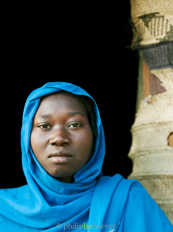 Woman of the Nuba tribe in the small village of Nyaro, Kordofan region, Sudan