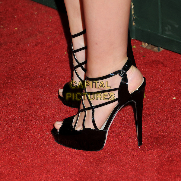 TERESA PALMER'S SHOES .7th Annual Teen Vogue Young Hollywood Party held at Milk Studios, Los Angeles, California, USA,.25th September 2009..feet detail shoes strappy open toe .CAP/ADM/BP.©Byron Purvis/AdMedia/Capital Pictures.