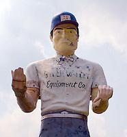 Muffler Man on a farm in Hancock, Massachusetts