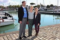 PHILLIP SCHURER, FLAVIE FLAMENT, LOU GABLE - 19EME FESTIVAL DE LA FICTION TV DE LA ROCHELLE, FRANCE, LE 15/09/2017.