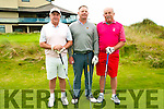 Ballybunion GC Captain's Charity Day: Taking part in the Ballybunion Golf club captains charity day on Saturday last were Maurice O'Connell, Paddy Dee & Gerry Murray.