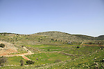Israel, Lower Galilee, a view from Tel Yodfat, identified as the site of Biblical Yatva, Yodfat was a Jewish stronghold during the rebellion against the Romans