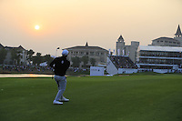 Alexander Levy (FRA) plays his 2nd shot on the the playoff hole during Sunday's Final Round of the 2014 BMW Masters held at Lake Malaren, Shanghai, China. 2nd November 2014.<br /> Picture: Eoin Clarke www.golffile.ie