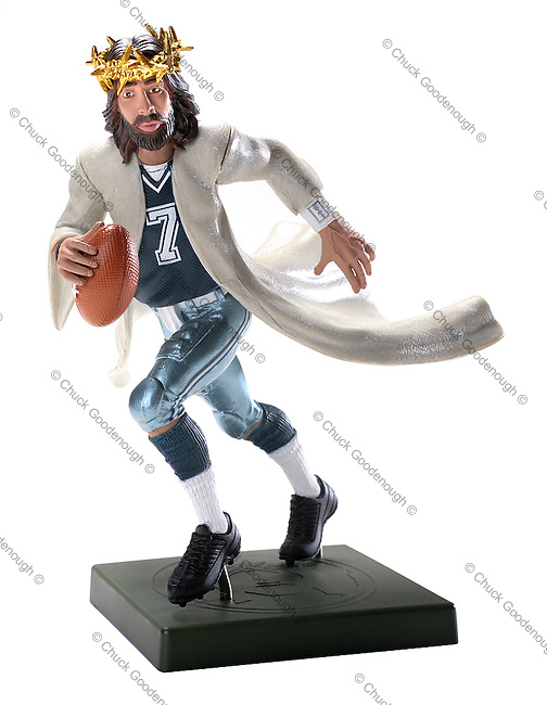 Football Player Jesus -Table Top Photography - Gift Items from Fishermen - I Am Faith