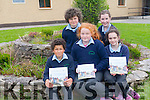 'Step back in Time'  is a fantastic publication by the pupils of Sneem National School which gives an insight in life in the region over the years. <br /> Front l-r Ryan Henton, Katie Riney and Lillian O'Shea<br /> Back l-r Simon O'Connor and Clara Murphy.