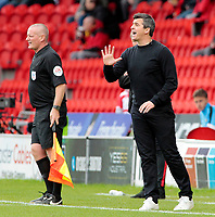 Fleetwood Town manager Joey Barton shouts instructions to his team from the touchline <br /> <br /> Photographer David Shipman/CameraSport<br /> <br /> The EFL Sky Bet League One - Doncaster Rovers v Fleetwood Town - Saturday 6th October 2018 - Keepmoat Stadium - Doncaster<br /> <br /> World Copyright &copy; 2018 CameraSport. All rights reserved. 43 Linden Ave. Countesthorpe. Leicester. England. LE8 5PG - Tel: +44 (0) 116 277 4147 - admin@camerasport.com - www.camerasport.com