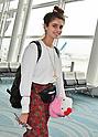 Model Taylor Hill departs Japan