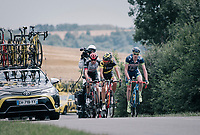 Frederik Backaert (BEL/Wanty Groupe-Gobert) was in the 3 man breakaway the whole day<br /> <br /> 104th Tour de France 2017<br /> Stage 6 - Vesoul › Troyes (216km)