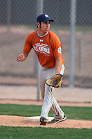 January 17, 2010:  Marshall Canno (Laredo, TX) of the Baseball Factory Texas Team during the 2010 Under Armour Pre-Season All-America Tournament at Kino Sports Complex in Tucson, AZ.  Photo By Mike Janes/Four Seam Images