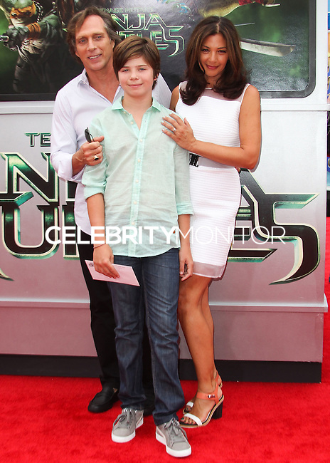 WESTWOOD, LOS ANGELES, CA, USA - AUGUST 03: William Fichtner, Vangel Fichtner, Kymberly Kalil at the Los Angeles Premiere Of Paramount Pictures' 'Teenage Mutant Ninja Turtles' held at Regency Village Theatre on August 3, 2014 in Westwood, Los Angeles, California, United States. (Photo by Celebrity Monitor)