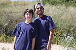 Kalkeran Kieran and Ash Shah at the Cricket Tournament on Laytown Beach...Picture Jenny Matthews/Newsfile.ie