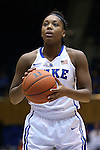 23 November 2014: Duke's Sierra Calhoun. The Duke University Blue Devils hosted the Marquette University Golden Eagles at Cameron Indoor Stadium in Durham, North Carolina in a 2014-15 NCAA Division I Women's Basketball game. Duke won the game 83-51.