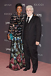LOS ANGELES, CA - NOVEMBER 04: Honoree/Director/producer George Lucas (R) and Mellody Hobson attend the 2017 LACMA Art + Film Gala Honoring Mark Bradford and George Lucas presented by Gucci at LACMA on November 4, 2017 in Los Angeles, California.