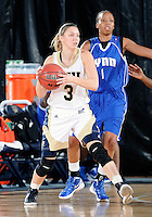 Florida International University guard Zsofia Labady (3) plays against Lynn University.  FIU won the game 68-30 on November 30, 2011 at Miami, Florida. .