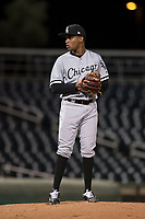 AZL White Sox relief pitcher Bryan Lara (46) prepares to deliver a pitch during an Arizona League game against the AZL Indians 1 at Goodyear Ballpark on June 20, 2018 in Goodyear, Arizona. AZL Indians 1 defeated AZL White Sox 8-7. (Zachary Lucy/Four Seam Images)