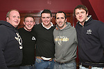 Paddy Cooney, Conor Walsh, Brendan Walsh, David Heeney and Rover in the Rugby Club...Photo NEWSFILE/Jenny Matthews.(Photo credit should read Jenny Matthews/NEWSFILE)....This Picture has been sent you under the condtions enclosed by:.Newsfile Ltd..The Studio,.Millmount Abbey,.Drogheda,.Co Meath..Ireland..Tel: +353(0)41-9871240.Fax: +353(0)41-9871260.GSM: +353(0)86-2500958.email: pictures@newsfile.ie.www.newsfile.ie.FTP: 193.120.102.198.