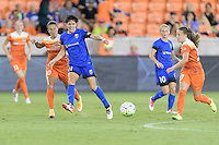 Houston, TX - Sunday Sept. 25, 2016: Keelin Winters, Andressa Machry during a regular season National Women's Soccer League (NWSL) match between the Houston Dash and the Seattle Reign FC at BBVA Compass Stadium.