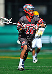 17 March 2012: Sacred Heart University Pioneer Midfielder Billy Skelos, a Grad from Lynbrook, NY, in action against the University of Vermont Catamounts at Virtue Field in Burlington, Vermont. The visiting Pioneers rallied to tie the score at 11 with five unanswered goals, dominating the 4th period. However the Cats scored with only 10 seconds remaining in the game to defeat the Pioneers 12-11 in their non-conference matchup. Mandatory Credit: Ed Wolfstein Photo