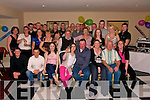 Celebrations: Timmy Healy, Listowel ( seated, 4th from right), celebrating his 40th birthday with family & friends at The Listowel Arms Hotel on Saturday night..