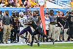 Washington Huskies Jayden Mickens (4) in action during the Zaxby's Heart of Dallas Bowl game between the Washington Huskies and the Southern Miss Golden Eagles at the Cotton Bowl Stadium in Dallas, Texas.