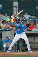 Myrtle Beach Pelicans infielder Jeimer Candelario (24) in action during a game against the Frederick Keys at Ticketreturn.com Field at Pelicans Ballpark on May 21, 2015 in Myrtle Beach, South Carolina.  Frederick defeated Myrtle Beach 4-3. (Robert Gurganus/Four Seam Images)