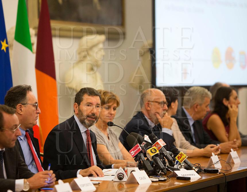 Il sindaco di Roma Ignazio Marino presenta la nuova giunta in Campidoglio, Roma, 28 luglio 2015.<br /> UPDATE IMAGES PRESS/Riccardo De Luca