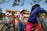 "Three girls seem to be enjoying themselves as they take a break from riding new bicycles at a school in the rural highlands district of A Luoi in central Vietnam. In the past two years, OConnor has given nearly 150 bicycles to poor children in the mostly ethnic minority district so they can get to school easier. ""I just feel like the United States hasn't done enough to help these people since the war,"" said OConnor, 64, of Sioux Falls, S.D., who served in Vietnam from 1970 to 1971. ""And I just feel like I took more than I gave, so I'm giving back now."" April 8, 2015"