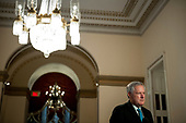 Mark Meadows, Assistant to the President and Chief of Staff prepares to talk with reporters following a meeting with Speaker of the US House of Representatives Nancy Pelosi (Democrat of California), United States Senate Minority Leader Chuck Schumer (Democrat of New York), and US Secretary of the Treasury Steven T. Mnuchin at the US Capitol in Washington, DC., Wednesday, August 5, 2020. Credit: Rod Lamkey / CNP