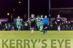 No 6 Killarney Celtic breaks away from Jamesboro in the FAI cup quarter final in Celtic Park on Saturday night