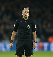 Referee Graham Scott<br /> <br /> Photographer Rob Newell/CameraSport<br /> <br /> The Premier League - West Ham United v Cardiff City - Tuesday 4th December 2018 - London Stadium - London<br /> <br /> World Copyright © 2018 CameraSport. All rights reserved. 43 Linden Ave. Countesthorpe. Leicester. England. LE8 5PG - Tel: +44 (0) 116 277 4147 - admin@camerasport.com - www.camerasport.com