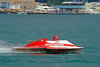"A-77 ""Hot Shot"", 2.5 Litre Mod class hydroplane..10-12 July, 2009, 100th Gold Cup, Detroit River, Detroit, MI USA..©2009 F.Peirce Williams, USA."