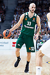 Panathinaikos Nick Calathes during Turkish Airlines Euroleague Quarter Finals 4th match between Real Madrid and Panathinaikos at Wizink Center in Madrid, Spain. April 27, 2018. (ALTERPHOTOS/Borja B.Hojas)