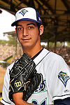 24 June 2008: Vermont Lake Monsters pitcher PJ Dean. Baseball Card Image for 2008. For in-house use by the Vermont Lake Monsters Only. Editorial or other use of images by other publications or media outlets must secure licensing from the photographer Ed Wolfstein prior to publication, and is based on standards of circulation, and placement in a given publication...Mandatory Credit: Ed Wolfstein.