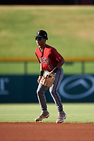 AZL Dbacks second baseman Glenallen Hill Jr. (6) during an Arizona League game against the AZL Cubs 2 on June 25, 2019 at Sloan Park in Mesa, Arizona. AZL Cubs 2 defeated the AZL Dbacks 4-0. (Zachary Lucy/Four Seam Images)