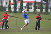 Carlota Ciganda (ESP) in action on the 10th during Round 3 of the HSBC Womens Champions 2018 at Sentosa Golf Club on the Saturday 3rd March 2018.<br /> Picture:  Thos Caffrey / www.golffile.ie<br /> <br /> All photo usage must carry mandatory copyright credit (&copy; Golffile | Thos Caffrey)