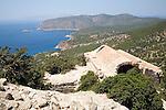 Stone vaulted church ruins, Kastrou Monolithos, Rhodes, Greece