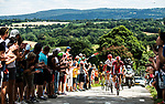 The 7 man breakaway group in action during Stage 5 of the 2018 Tour de France running 204.5km from Lorient to Quimper, France. 11th July 2018. <br /> Picture: ASO/Alex Broadway | Cyclefile<br /> All photos usage must carry mandatory copyright credit (&copy; Cyclefile | ASO/Alex Broadway)