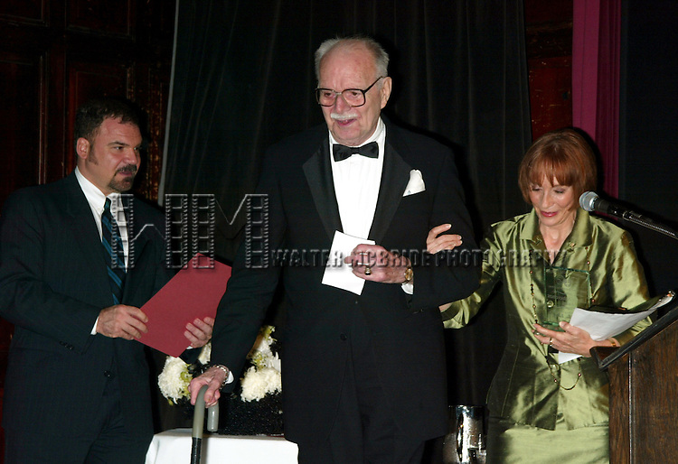 John Willis - editor of Theatre World and Patricia Elliott<br /> ( Lifetime Achievement )<br /> Attending the Broadway Theater Institute 2003 Awards for Excellence held at The Players Club <br /> on Gramercy Park in New York City.<br /> September 15, 2003