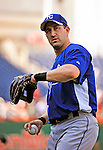 21 June 2010: Kansas City Royals right fielder Willie Bloomquist warms up prior to a game against the Washington Nationals at Nationals Park in Washington, DC. The Nationals edged out the Royals 2-1 in the first game of their 3-game interleague series, snapping a 6-game losing streak. Mandatory Credit: Ed Wolfstein Photo