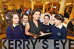Pictured at the Business boot camp part of the young Entrepreneur programme at the Brandon hotel on Friday were Colette Fitzpatrick were Colaiste Na Scelige Students Tara Sugerue, Gemma Musgrave, Selene O'Connell and Kerri Dowling.