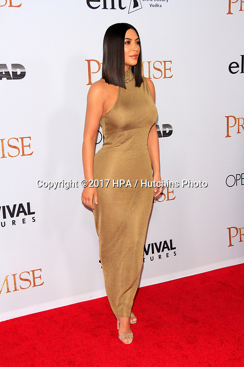"""LOS ANGELES - APR 12:  Kim Kardashian at the """"The Promise"""" Premiere at the TCL Chinese Theater IMAX on April 12, 2017 in Los Angeles, CA"""
