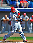 12 March 2012: St. Louis Cardinals catcher Yadier Molina in action during a Spring Training game against the Washington Nationals at Space Coast Stadium in Viera, Florida. The Nationals defeated the Cardinals 8-4 in Grapefruit League play. Mandatory Credit: Ed Wolfstein Photo