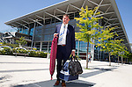 FC Luzern v St Johnstone...16.07.14  Europa League 2nd Round Qualifier<br /> Manager Tommy Wright at Basel airport in Switzerland ahead of tomorrow's game against FC Luzern<br /> Picture by Graeme Hart.<br /> Copyright Perthshire Picture Agency<br /> Tel: 01738 623350  Mobile: 07990 594431