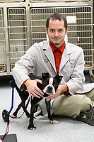 Jeremy Long with Boston Terrier