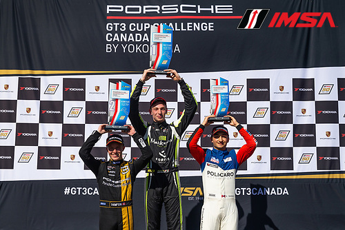 Race 2, Platinum Podium, #79 Mark Motors Racing, Porsche 991 / 2019, GT3CP: Roman DeAngelis, #3 SCB Racing, Porsche 991 / 2017, GT3CP: Parker Thompson, #40 Policaro Motorsport, Porsche 991 / 2019, GT3CP: Ethan Simioni