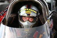 Sept. 1, 2013; Clermont, IN, USA: NHRA top alcohol dragster driver Bill Reichert during qualifying for the US Nationals at Lucas Oil Raceway. Mandatory Credit: Mark J. Rebilas-